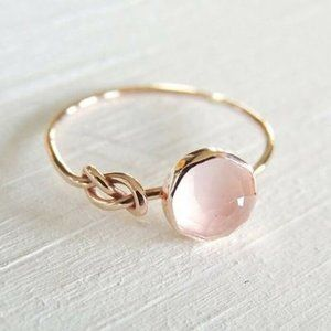 Rose Gold Natural Gemstone Ring